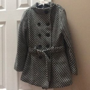Girls BCXGirl checked coat size medium